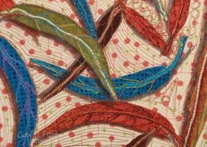 Falling Eucalyptus, Detail